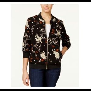 Say What? NWT Floral Print Bomber Jacket size XS